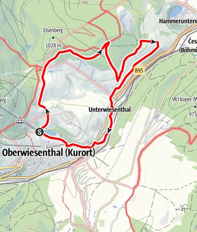 Karte / Barbara-Petzold-Tour (Kurort Oberwiesenthal)