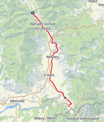 Karte / Lavantradweg R10