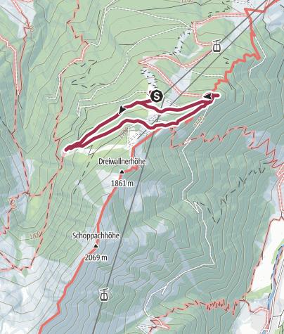 Karte / Maiskogel Hüttenrunde