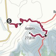 Map / Linear Walk to Mount Guajara