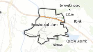 מפה / Bukovina nad Labem