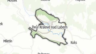 מפה / Dvur Kralove nad Labem