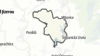 מפה / Jestřabí v Krkonoších