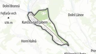 מפה / Kuncice nad Labem