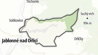 Hartă / Jamné nad Orlicí