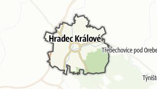 Karte / Hradec Králové