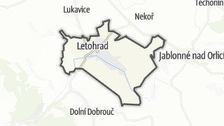 Hartă / Letohrad