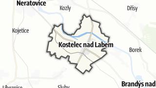 מפה / Kostelec nad Labem