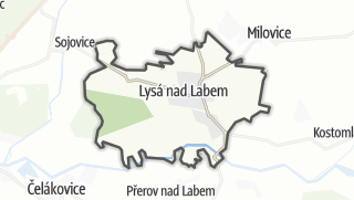 מפה / Lysa nad Labem