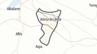 地图 / Artesa de Lleida