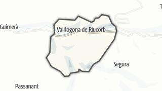 地图 / Vallfogona de Riucorb