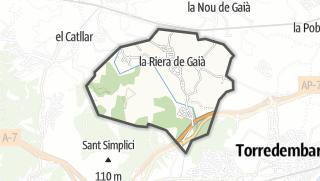 地图 / la Riera de Gaià