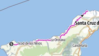 Karte / Route 4: Buenavista - Punta del Hidalgo