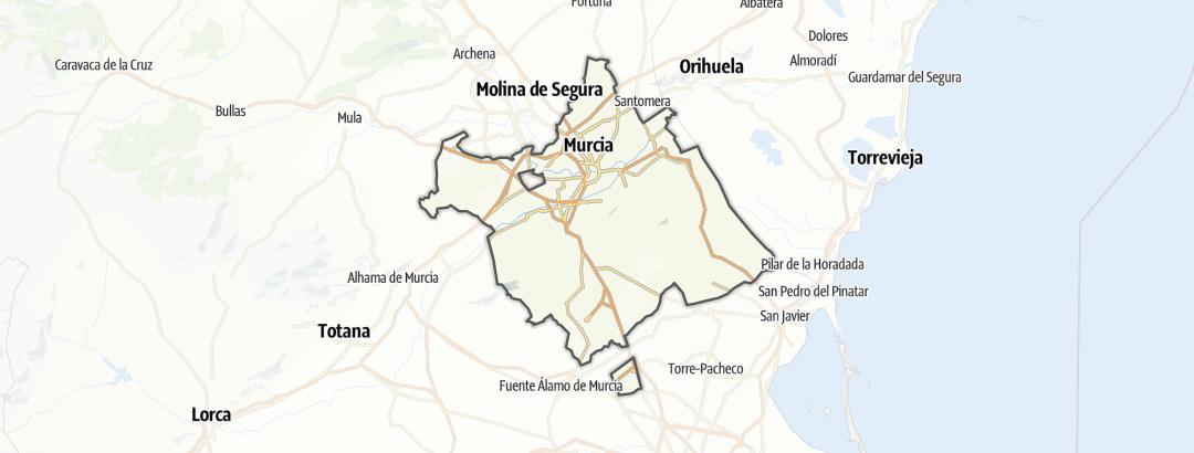 Mappa / In bici a Murcia