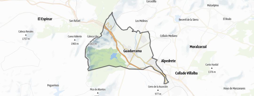 Map / Hikes in Guadarrama