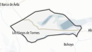 Mapa / Los Llanos de Tormes