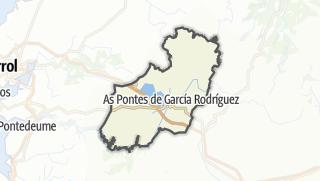 Kartta / As Pontes de García Rodríguez