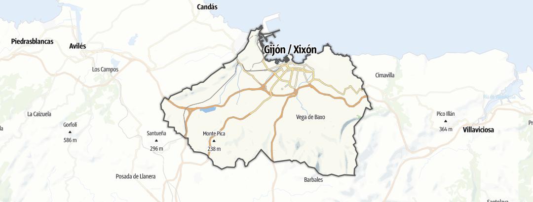 Map / Mountain biking trails in Gijón