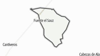 Mapa / Fuente el Saúz