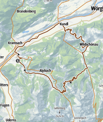 Map / Day 2 - Alpbachtal/Wildschönau Mountainbike-Feeder Ride