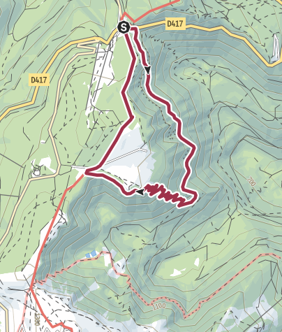 Carte / Sentier des roches
