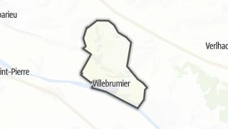 Карта / Villebrumier