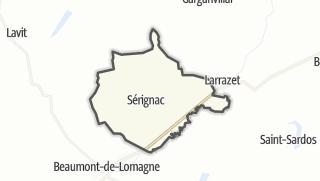 Карта / Sérignac
