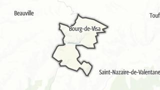 Карта / Bourg-de-Visa