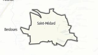 Карта / Saint-Médard