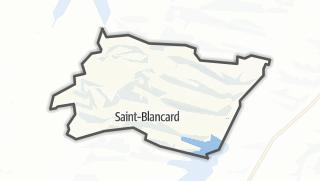 Карта / Saint-Blancard