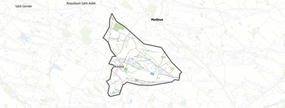 Mapa / Rutas en bici de carretera en Beaupuy