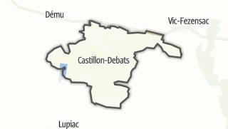 Карта / Castillon-Debats