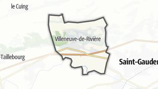 Térkép / Villeneuve-de-Rivière