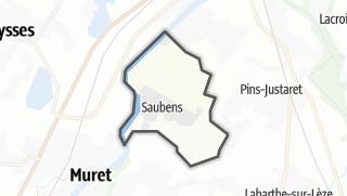 Térkép / Saubens