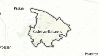 Карта / Castelnau-Barbarens
