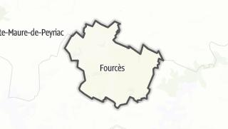 Карта / Fourcès