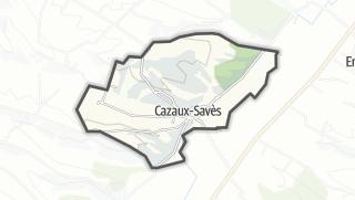 Карта / Cazaux-Savès