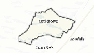 Карта / Castillon-Savès