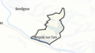 Térkép / Mirepoix-sur-Tarn