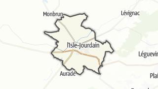 Карта / L'Isle-Jourdain