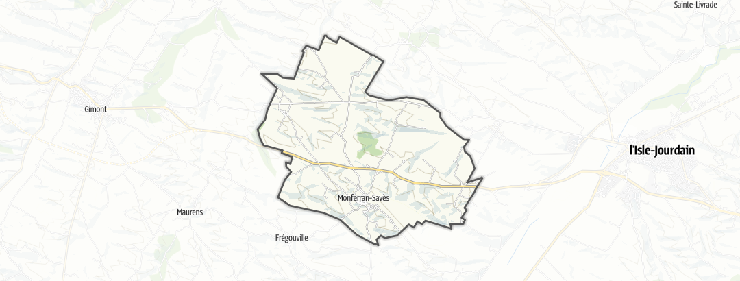 Mapa / Rutas BTT en Monferran-Savès