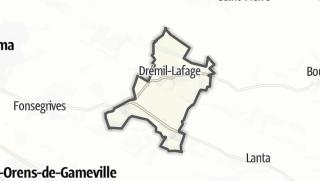 Térkép / Drémil-Lafage