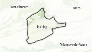 Térkép / Le Cuing