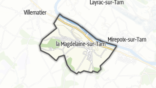 Térkép / La Magdelaine-sur-Tarn