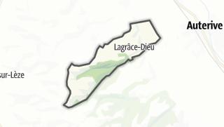 Térkép / Lagrâce-Dieu