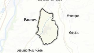 Térkép / Lagardelle-sur-Lèze