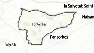 Térkép / Fontenilles