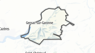 Térkép / Gensac-sur-Garonne