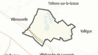 Térkép / Montgaillard-Lauragais