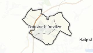 Térkép / Montastruc-la-Conseillère